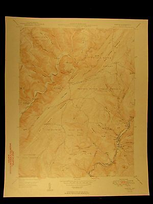 Barton Savage River Maryland 1949 vintage USGS Topo color chart map
