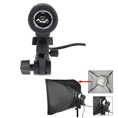 E27 Flash Strobe Bulb Umbrella Holder Socket Studio Photo Light Stand Adaptor