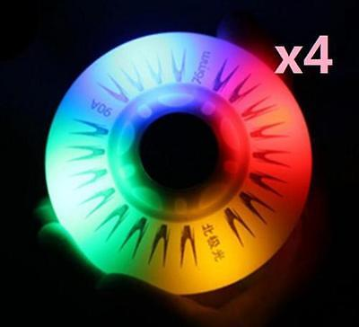 DZ928 □ Replacement rainbow LED WheelFor Rollerblade Inline Skate Shoes 76mm 4PC