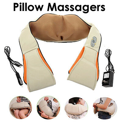 Health Care Pillow Kneading Neck Shoulder Back Waist Belly Foot Massager NEW UK