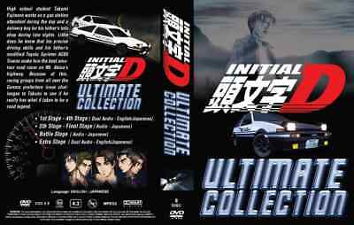 Anime DVD Initial D Ultimate Stage 1-6 + Battle + Extra ENGLISH AUDIO Box Set