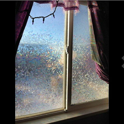 45*100cm 3D No Glue Static Cling Decorative Frosted Glass Privacy Window Film