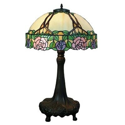 Cassandre Large Tiffany Style Table Lamp Lead Light - Will Ship Australia Wide