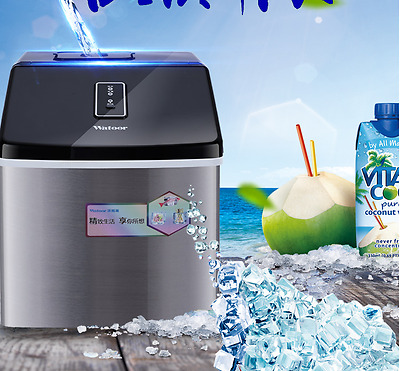 Brand New 28KG ( 62Lbs ) Fan Cooled Ice Machine Maker Free Post