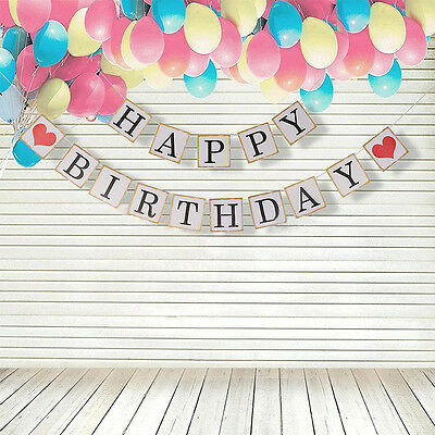 HAPPY BIRTHDAY Banner Bunting Garland Birthday Party Hanging Decoration