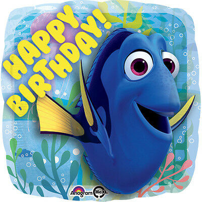 Finding Dory Happy Birthday Foil Balloon Under The Sea Party Decoration