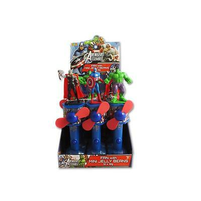 12 x Park Avenue Marvel Avengers Fan with Mini Jelly Beans 10g