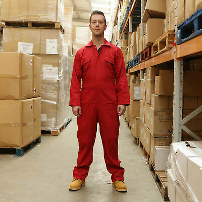 Promech Red Overalls Coverall Protective Boiler Suit Mechanic DIY Work Mens