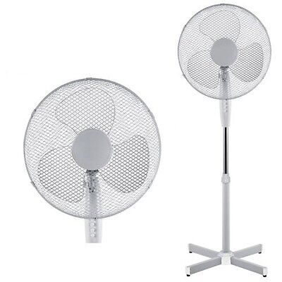 """16"""" Pedestal Oscillating Extendable Standing Electric Fan 3 Speed Office Cooling"""