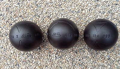 New MS Petanque Carbon Alloy Steel Soft STRA Boules Diameter 74 Weight 700