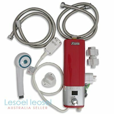 Mini Electric Hot Water Heater Shower System Instant CARAVAN CAMPING Portable