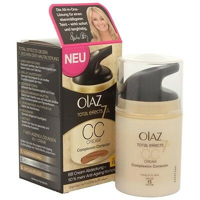 Olaz Total Effects 7 in One CC Cream Complexion Corrector dunkle Haut 50 ml