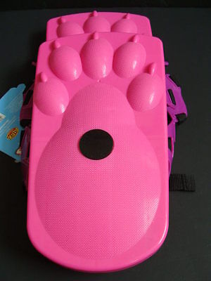 NEW Ideal Sno-Stompers Girls Pink Bear Claw Print Snow Shoes Sand Tracks Kids