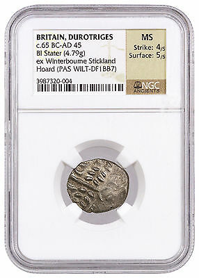 Britain Billon Stater of Durotriges Winterbourne Stickland Hoard NGC MS SKU41082