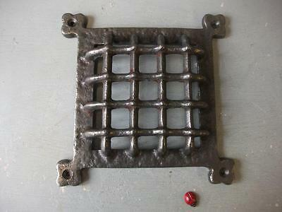 "cast iron Medieval door window grill cover 6""  square gothic - ventilation grill"
