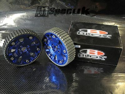 RACING ADJUSTABLE BLUE CAM GEAR GEARS PAIR fits NISSAN SKYLINE RB25 DRIFTING