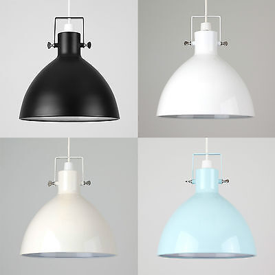 Modern Industrial Style Domed Metal Ceiling Pendant Light Shade Lounge Lighting