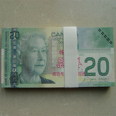 20 C$ Canada Paper Money Bank Notes 100pcs Commemorate the Collection Banknotes