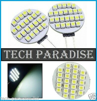 1x Ampoule 24 Led SMD 3528 G4 12V DC Dimmable 2.5W blanc froid bateau camping...