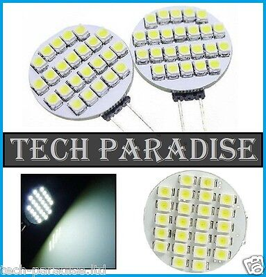 4x Ampoule 24 Led SMD 3528 G4 12V DC Dimmable 2.5W blanc froid bateau camping...