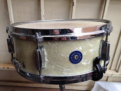 """Rare Japanese Stencil Drum """"""""multi Shine"""""""" Snare Wmp,ludwig Stand Die Cast Hoops"""