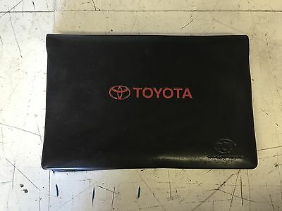 Toyota Corolla 1998 Owners Manual With Leather Jacket