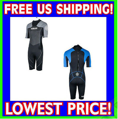 YAMAHA Neoprene Shorty Wetsuit ALL SIZES BLUE GRAY Wet Suit 2MM MAR-15NST