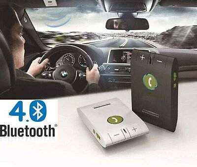 Wireless Bluetooth Hands Free Speakerphone Speaker Car Kit Multipoint Visor Clip