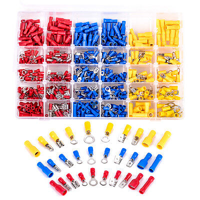 480pcs Assorted Crimp Terminal Insulated Electrical Wire Connector Set Case Kit