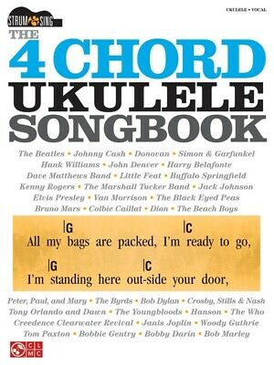 The 4 Chord Ukulele Songbook Book *NEW* Sheet Music Strum & Sing