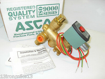 "NEW ASCO VALVE 8300G64U SOLENOID VALVE 120Vac 3/8"" *** NEW IN BOX ***"