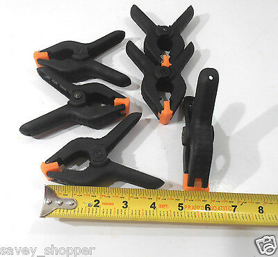"""Lot Of 20  4"""" Plastic Spring Clamp"""