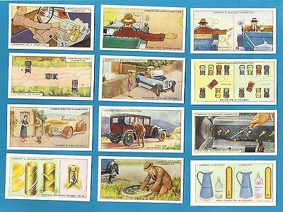 Lambert & Butler cigarette cards - HINTS & TIPS FOR MOTORISTS - Full set.