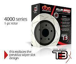 DBA T3 4000 Series Front Slotted Rotors x 2 Subaru WRX 99-08 295mm DBA4650S