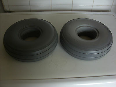 Pair Of Puncture Proof 4.10/3.50 - 4 Mobility Scooter Tyres. Brand New Grey.