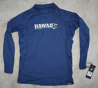 NEW hard to find RIP CURL MEN'S Navy Blue Long Sleeve HAWAII Rash Guard - SMALL