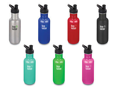 Klean Kanteen 532ml Classic Water Bottle (w/Sport Cap 3.0) RRP £16.95