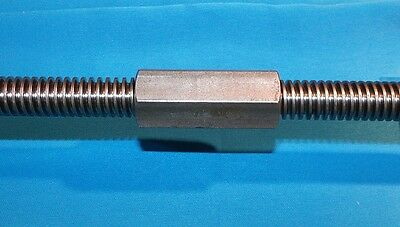5/8-8 acme coupling nuts steel 7/8 hex x 2.125 long right hand