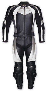 Motorcycle Cowhide Leather Suit Men's Motorbiker Racing Suit All-Size 2-Pc