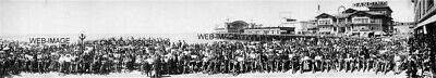 Los Angeles Ca Motorcycle Club Lineup Venice 12X36 Photo Harley Davidson, Indian