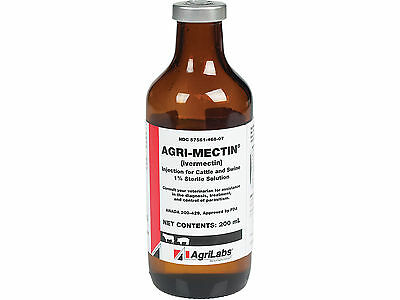 200 ml Agri-Mectin Injection for Cattle and Swine