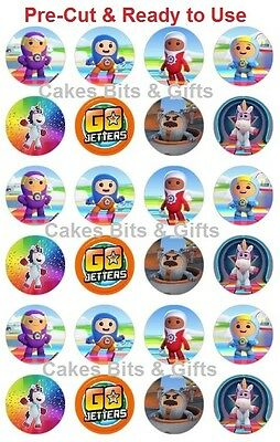 24 x GO JETTERS CHARACTER Mix Edible Wafer Cupcake Toppers Pre-Cut Ready to Use