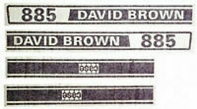 David Brown CaseIH Tractor 885 Hood  Decal  Set