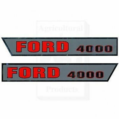 Ford Tractor Hood  Decals Model 4000