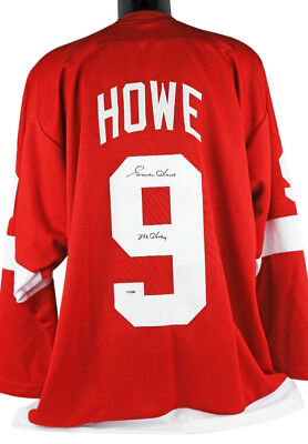 Red Wings Gordie Howe 'Mr Hockey' Authentic Signed Red Jersey PSA/DNA