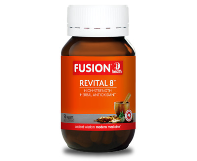 Fusion Revital 8 Resveratrol Green Tea 50 tabs Antioxidant Supplement
