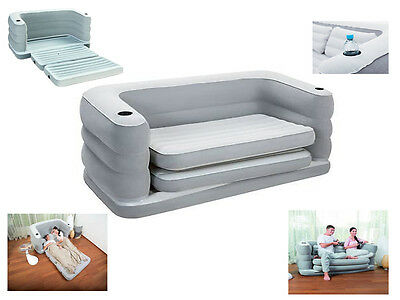 Bestway Multi Inflatable Sofa Couch Double Air Bed Mattress Pillows Spare Guest