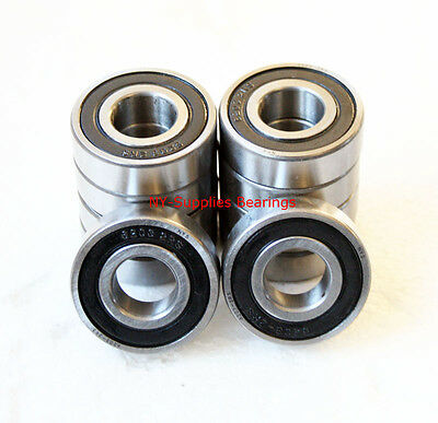 6203-2RS C3 Premium Sealed Ball Bearing, 17x40x12 (Qty. 10), 2 Side Rubber Seals
