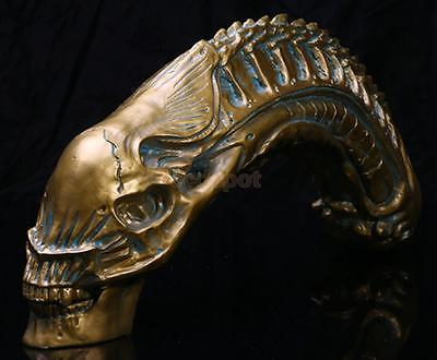 "20"" Predator VS Alien Skull Resin Fossil Model AVP Figurine Collectible Toy"
