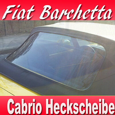 Fiat Barchetta Convertible Rear Windscreen with Zipper Year 1995 - 2005 Top